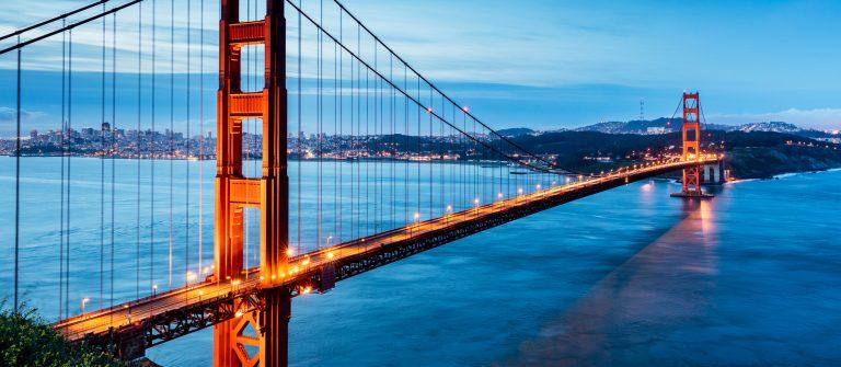 Golden Gate Bridge Sunrise San Francisco California USA