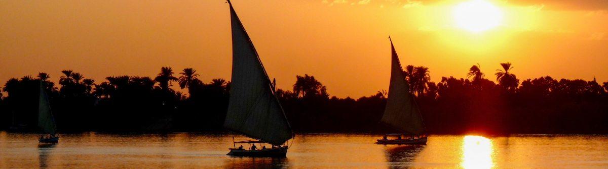 Sunset at Nile River
