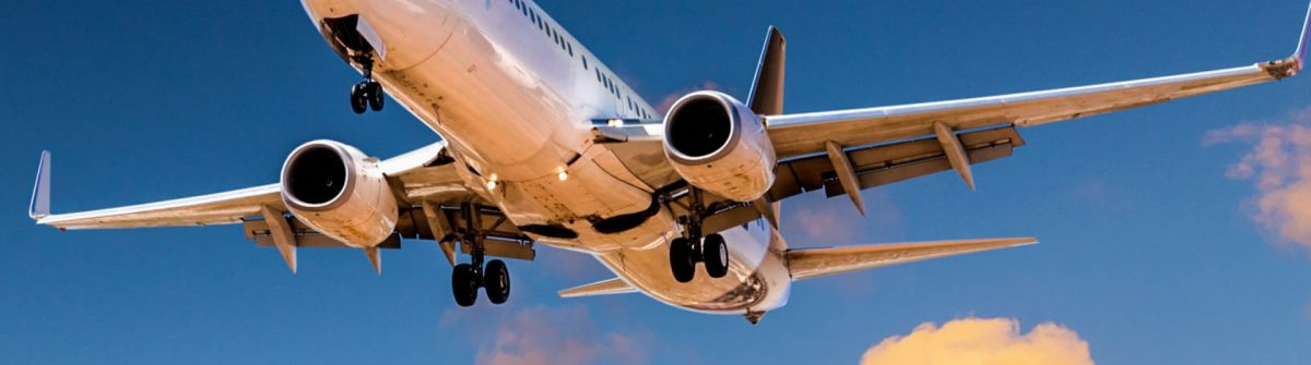 Flugzeug in der Luft