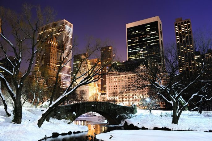 Central Park in New York im Winter