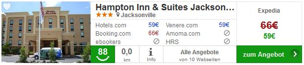 hotel jacksonvolle hampton inn