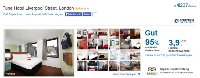 hotel tune london
