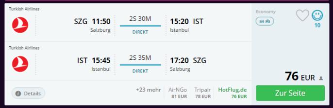 ss istanbul flüge