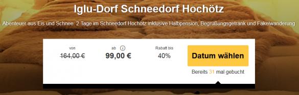 2 tage im iglu schneedorf inkl halbpension um 99 for Designhotel das marent