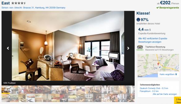hamburg 3 tage inkl 4 superior east hotel und fl gen. Black Bedroom Furniture Sets. Home Design Ideas