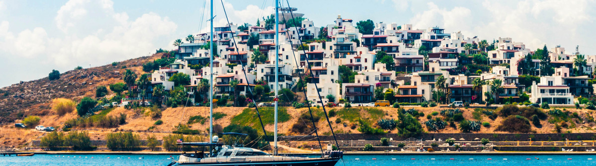 Yacht sailing in Aegean sea