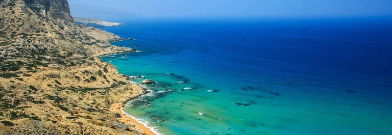 Red Beach in Matala, Crete, Greece