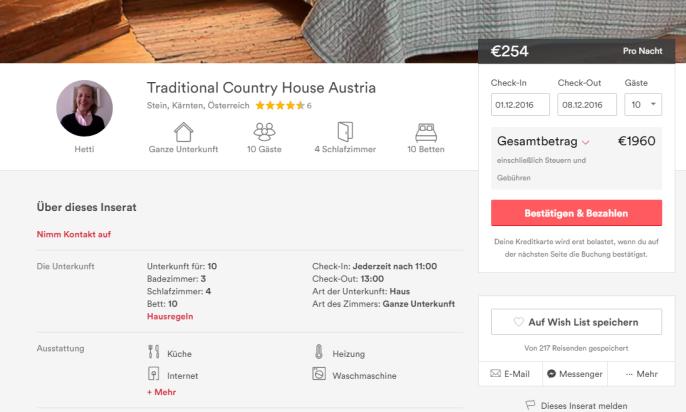 ss kärnten airbnb