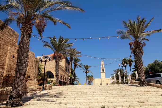 The old port city of Jaffa in Tel Aviv, Israel.